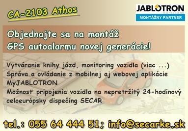 CA-2103 Athos GSM/GPS autoalarm